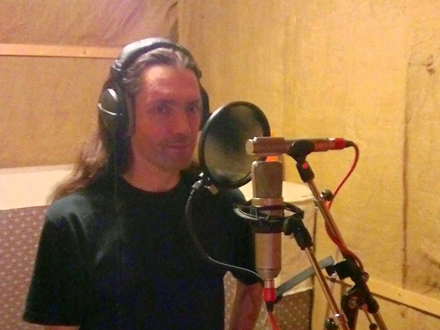 Dave recording the vocals